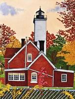 Presque Isle Light, Erie Pa Fine Art Print