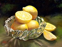 Lemon In Glass Fine Art Print