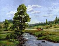 Meadow & Horses Fine Art Print