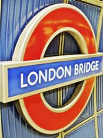 London Bridge Underground Sign Fine Art Print