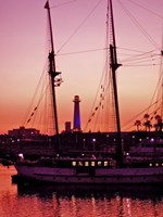 Long Beach Harbor at Night Fine Art Print