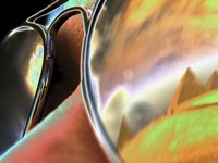 Pyramids in Sunglasses Fine Art Print