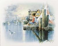 Fishing Dock B Fine Art Print