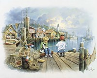 Fishing Dock C Fine Art Print