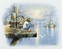 Fishing Dock D Fine Art Print