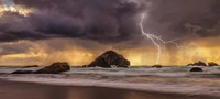 Storm At Face Rock1 Fine Art Print