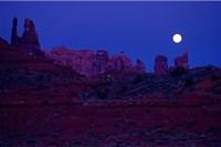 Moon Over the Desert Fine Art Print