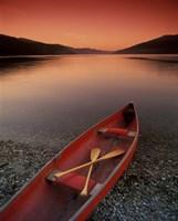 Red Canoe Fine Art Print
