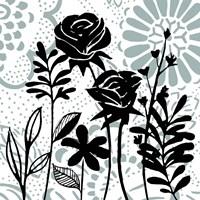 Floral Mist I Framed Print