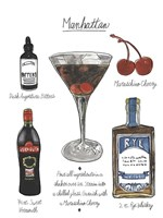Classic Cocktail - Manhattan Fine Art Print
