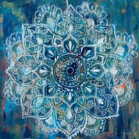 Mandala in Blue II Fine Art Print