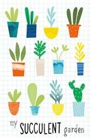 My Succulent Garden Fine Art Print