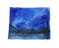 Wyoming State Watercolor Fine Art Print