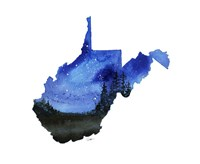 West Virginia State Watercolor Fine Art Print