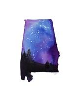 Alabama State Watercolor Fine Art Print