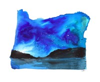 Oregon State Watercolor Fine Art Print