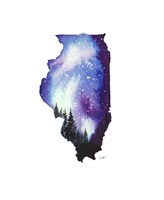 Illinois State Watercolor Fine Art Print
