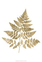 Graphic Gold Fern I Fine Art Print