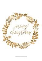 Golden Christmas III Fine Art Print