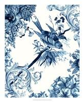 Bird & Branch in Indigo II Framed Print