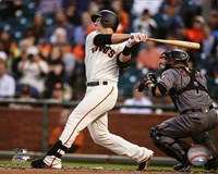 Buster Posey 2016 Action Fine Art Print
