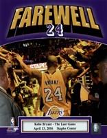 Kobe Bryant plays his final NBA game-Staples Center- April 13, 2016 Fine Art Print