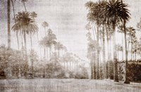 Driving in Beverly Hills - Sepia Fine Art Print
