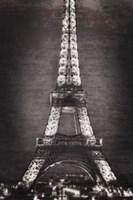 Eiffel Lights B&W Fine Art Print