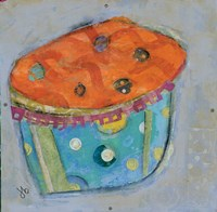 Cupcake I  (orange icing) Framed Print