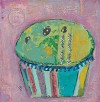 Cupcake II  (green icing) Fine Art Print