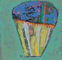 Cupcake III  (blue icing) Fine Art Print