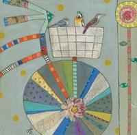 Bird Basket in Bicycle Fine Art Print