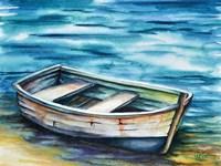 Beached Rowboat Fine Art Print