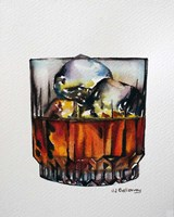 Scotch on the Rocks Fine Art Print
