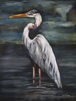 Blue Heron at Dusk Fine Art Print