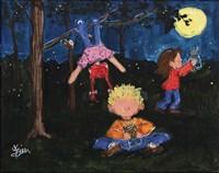 Playing at Night Fine Art Print