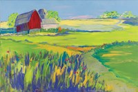 Red Barn Landscape Fine Art Print