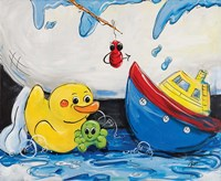 Rubber Ducky and Boat Fine Art Print