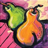 Zany Pears Fine Art Print