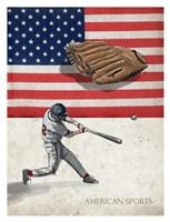 American Sports: Baseball 1 Fine Art Print