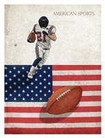 American Sports: Football 1 Fine Art Print