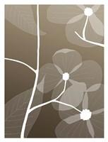 Floral Silhouette 1 Fine Art Print