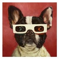 3D Dog Fine Art Print