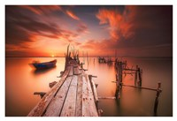 Red Sunset at Carrasqueira, Alentejo Fine Art Print