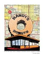 Randy's Donuts Fine Art Print