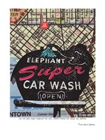 Super Elephant Car Wash Seattle Fine Art Print