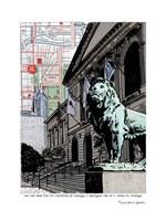 Art Institute Lion Chicago Fine Art Print