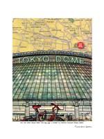 Tokyo Map Dome Fine Art Print