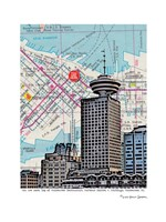 Revolving Restaurant Vancouver Fine Art Print