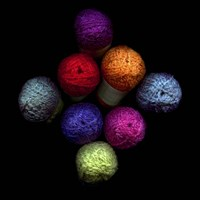 Colourful Balls Of Wool Fine Art Print